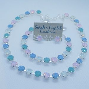 Handmade Easter Opals Crystal Jewelry Set